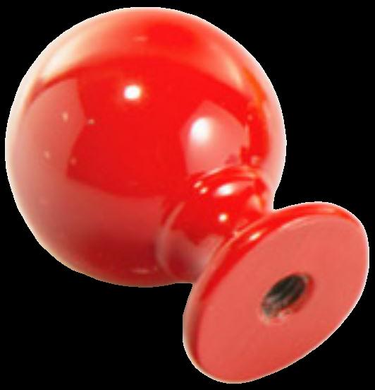 1271 Vibrante Perilla Roujo 20mm Round Red Knob