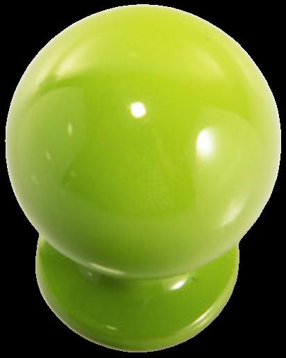 1274 Vibrante Perilla Verde 20mm Round Green Knob