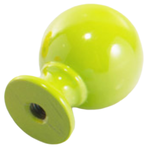 1275 Vibrante Perilla Verde 20mm Round Green Knob