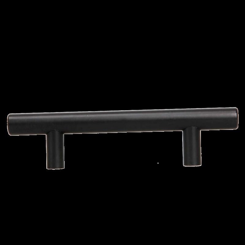 1389 T Bar Rail Matte Black 96mm Aluminium Handle
