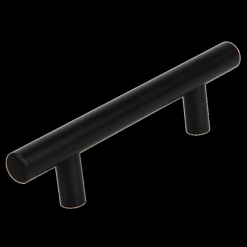 T-Bar Rail Matte Black 96mm Aluminium Handle
