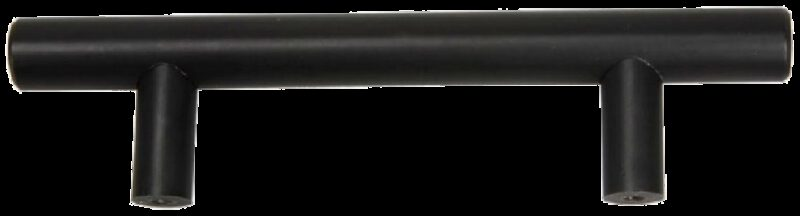 T-Bar Rail Matte Black 128mm Aluminium Handle