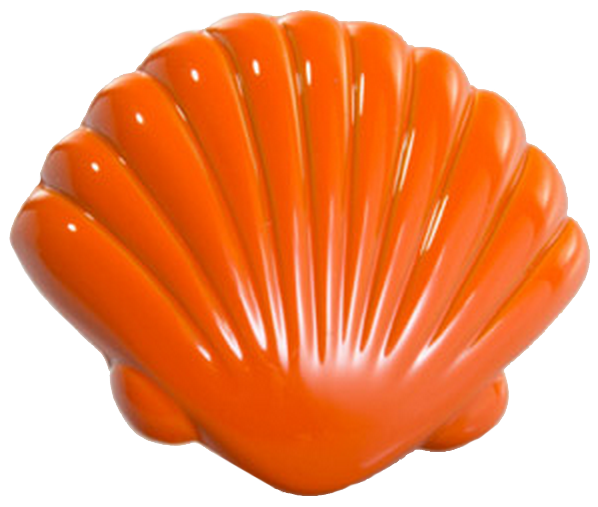 Vibrante Venera Naranja 40mm Orange Shell Knob
