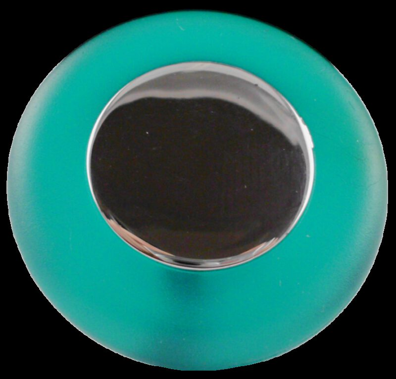 Translucent Round Green Soft Rubber 38mm Knob