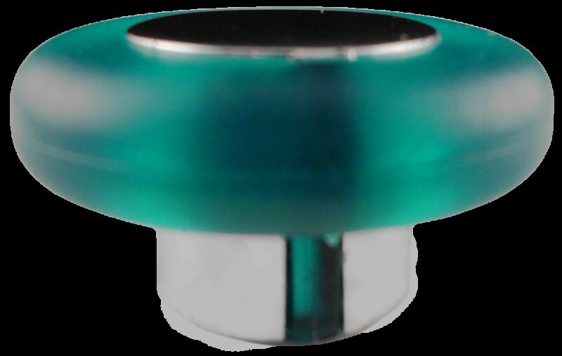 1481 Translucent Round Green Soft Rubber 38mm Knob