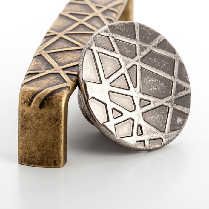 1645 Castella Artisan Tribal 128mm Rustic Tin Handle