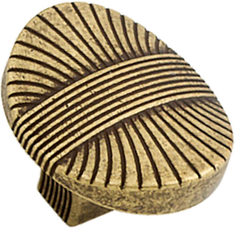 Castella Artisan Harvest 35mm Antique Brass Knob 756 034 03