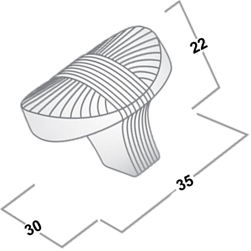 Castella Artisan Harvest 35mm Brushed Tin Knob 756 034 85 Diagram