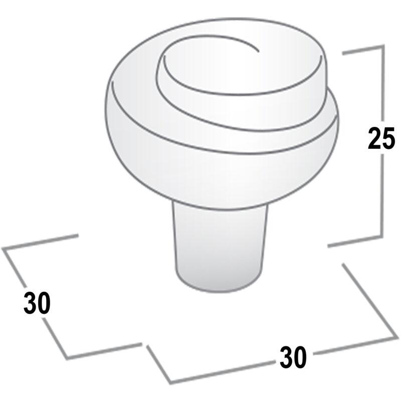 Castella Artisan Plume 30mm Rustic Tin Knob 736 030 86 Diagram