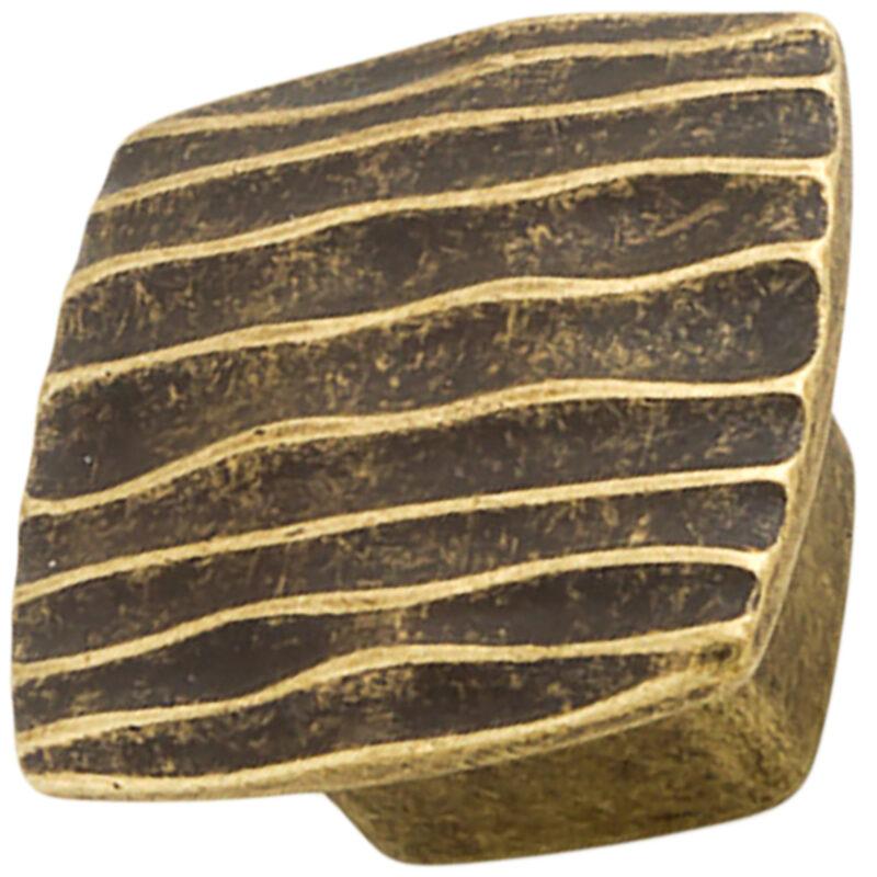 Castella Artisan Ripple 42mm Antique Brass Knob 744 042 03 2