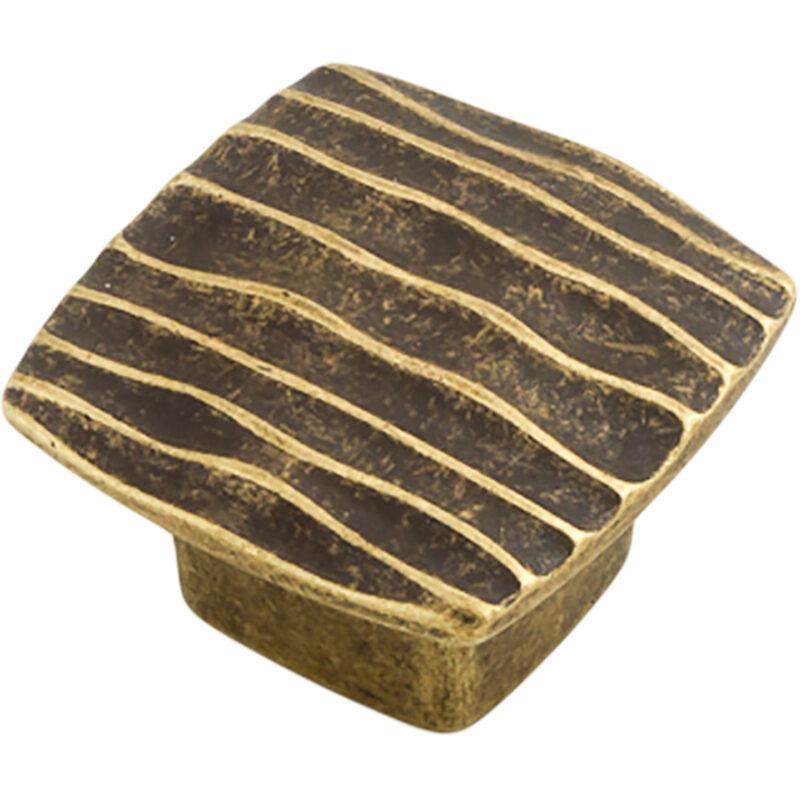 Castella Artisan Ripple 42mm Antique Brass Knob 744 042 03
