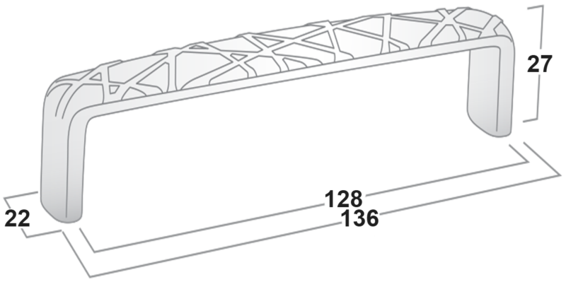 Castella Artisan Tribal 128mm Rustic Tin Handle 740 128 86 Diagram 1