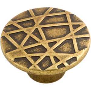 Castella Artisan Tribal 45mm Antique Brass Knob 740 045 03 1