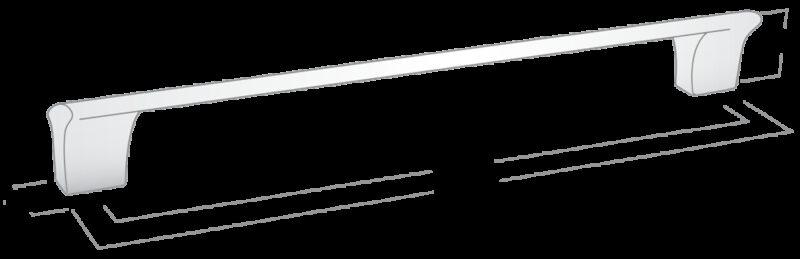 Castella Contour Gradient Polished Chrome 160mm Handle