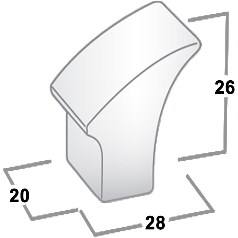 Castella Contour Gradient Polished Chrome 30mm Knob 732 030 06 Diagram
