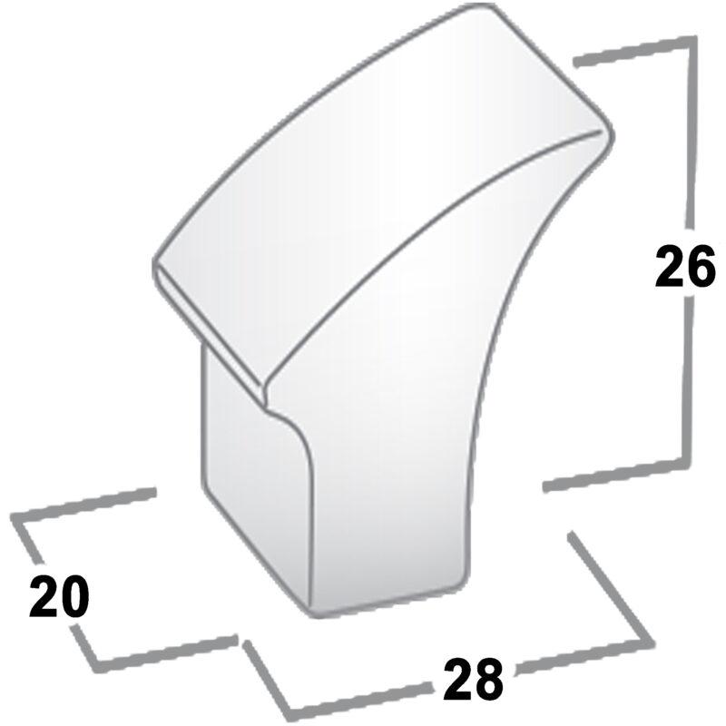 Castella Contour Gradient Polished Chrome 30mm Knob 732 030 06 Diagram