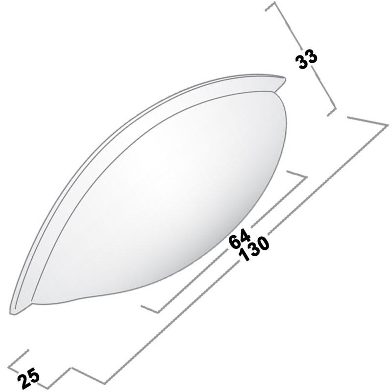 Castella Contour Sconce Aluminium 64mm Cup Pull 772 064 11 Diagram