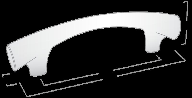 Castella Contour Taper Polished Chrome 224mm Handle 145 224 06 Diagram