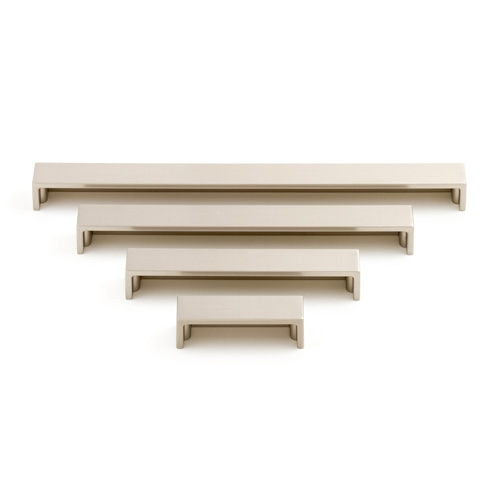 Castella Geometric Block Brushed Nickel D Pull 192mm Handle