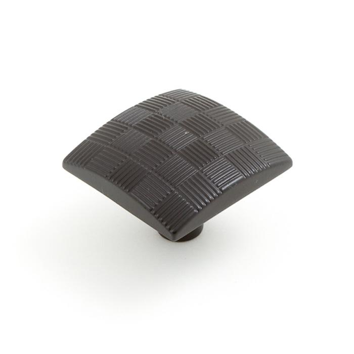 2130 Castella Geometric Tessellate Oil Rubbed Bronze Square 34mm Knob