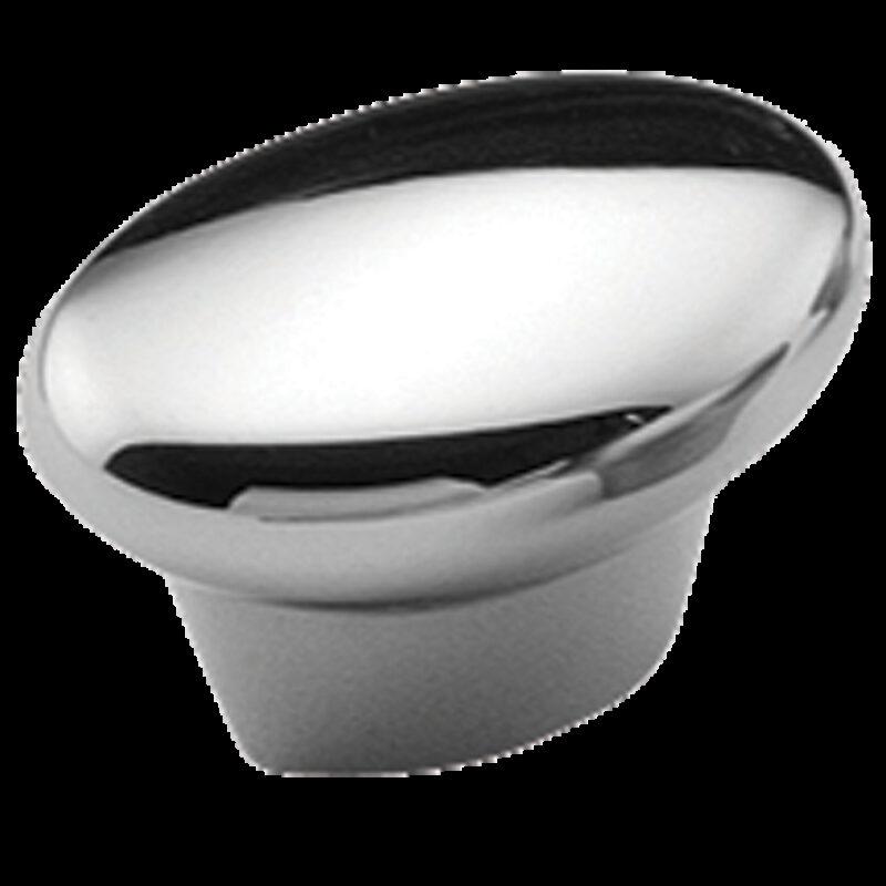 2532 Castella Contour Wave Polished Chrome 35mm Oval Knob