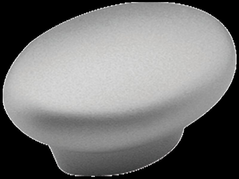 2534 Castella Contour Wave Satin Chrome 35mm Oval Knob