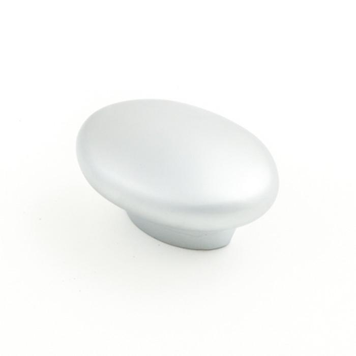Castella Contour Wave Satin Chrome 50mm Oval Knob