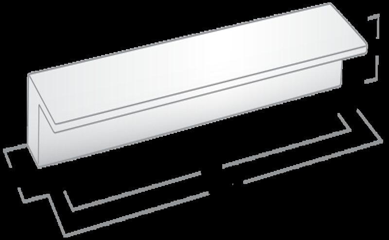 2578 Castella Geometric Vector Polished Chrome Square Lip Pull 96mm Handle