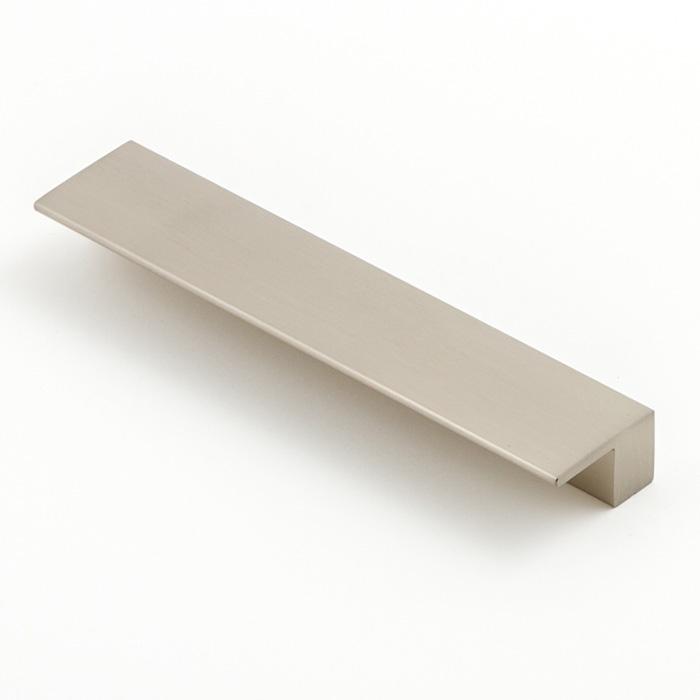 Castella Geometric Vector Brushed Nickel Square Lip Pull 128mm Handle
