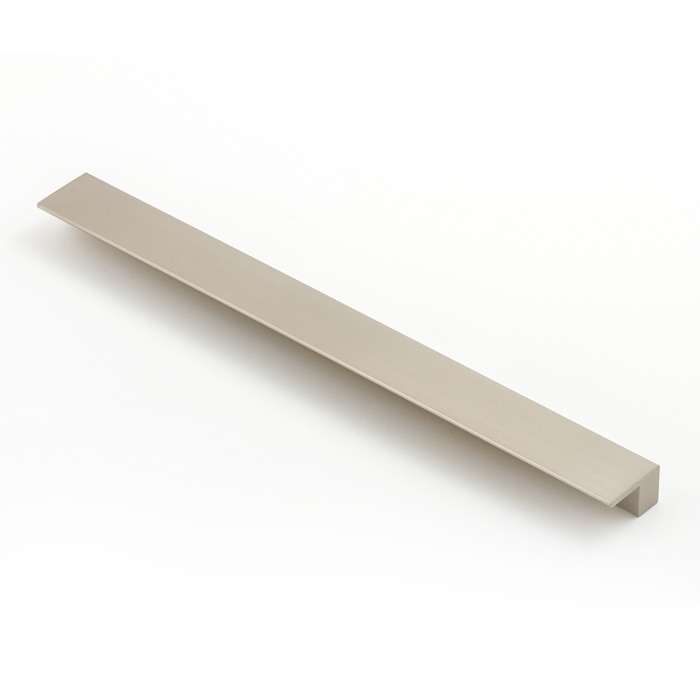 Castella Geometric Vector Brushed Nickel Square Lip Pull 288mm Handle