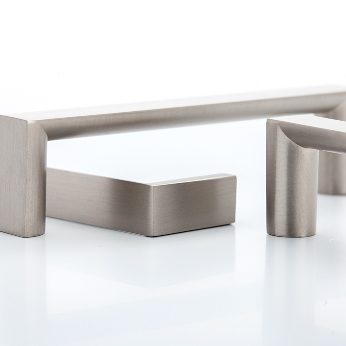 Castella Linear Planar Brushed Nickel Rounded Flat D Pull 352mm Handle