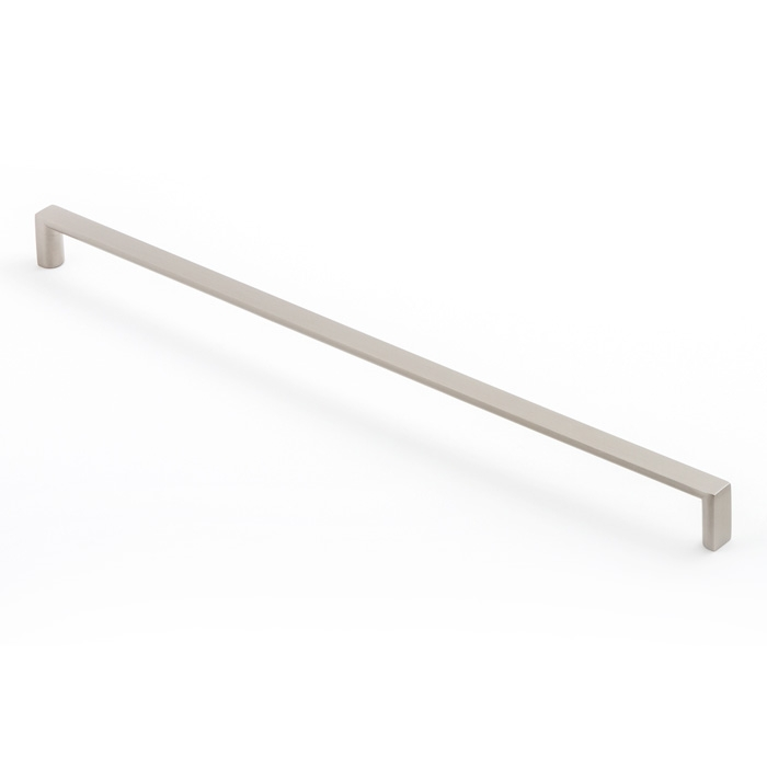 Castella Linear Planar Brushed Nickel Rounded Flat D Pull 448mm Handle