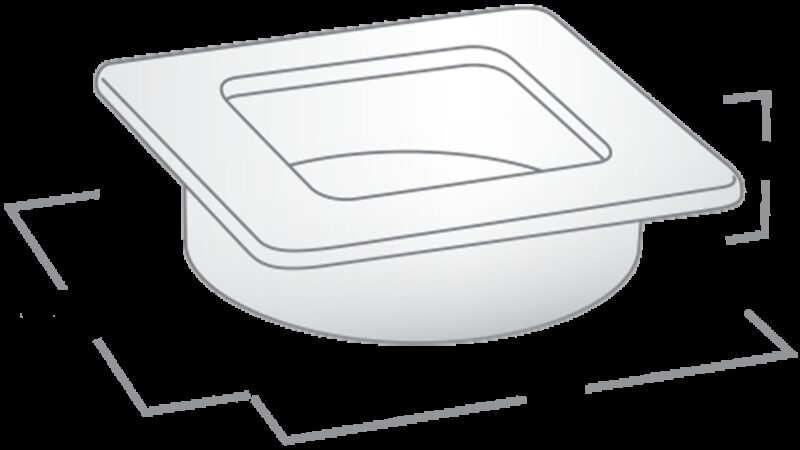 Castella Minimal Flush Satin Chrome 39mm Square Flush Pull Handle