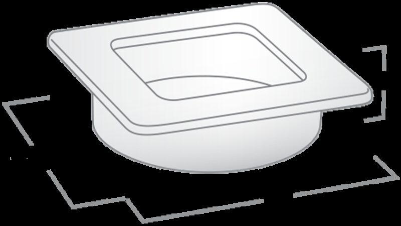 2833 Castella Minimal Flush Polished Chrome 39mm Square Flush Pull Handle