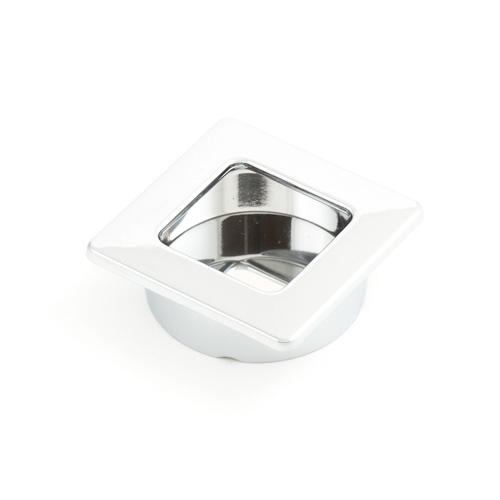Castella Minimal Flush Polished Chrome 39mm Square Flush Pull Handle