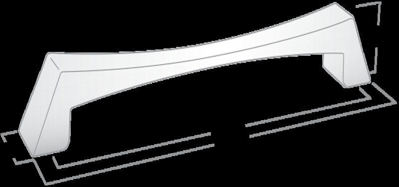 Castella Nostalgia Evoke Satin Chrome 320mm D Pull Handle
