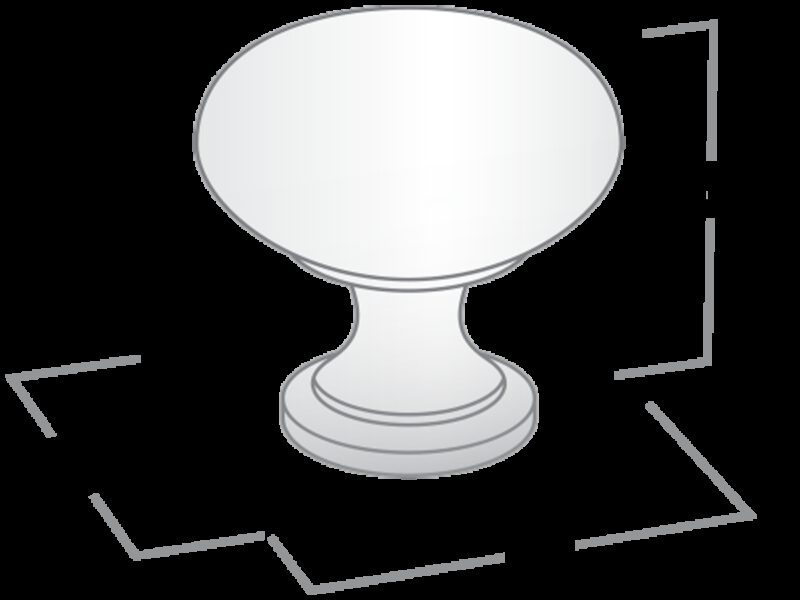 Castella Heritage Sovereign Round Gold Plated 30mm Round Knob