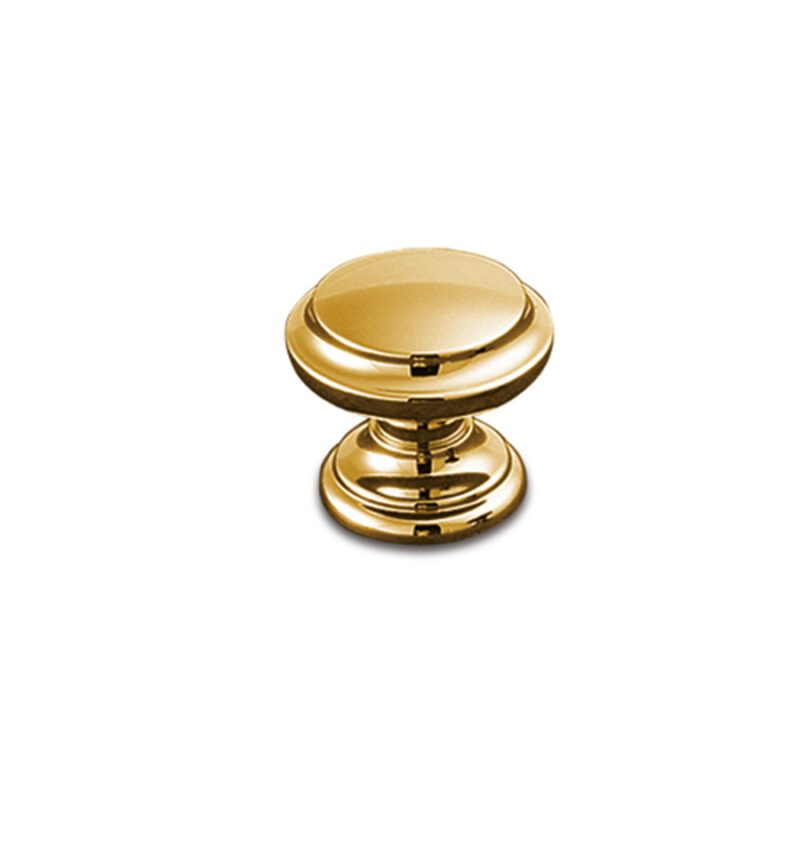 Castella Heritage Sovereign Gold Plated Fluted 30mm Round Knob
