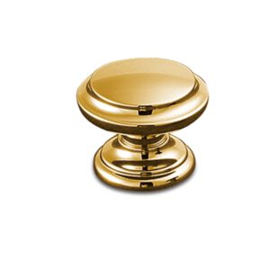 Castella Heritage Sovereign Gold Plated Fluted 35mm Round Knob