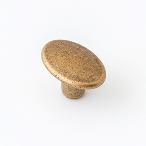 Castella Nostalgia Century Antique Brass 30mm Oval Knob