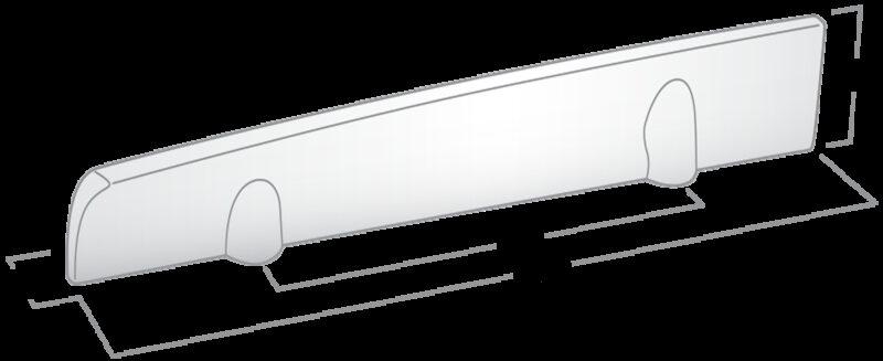 4158 Castella Minimal Flex Polished Chrome 96mm Right Hand Pull Handle