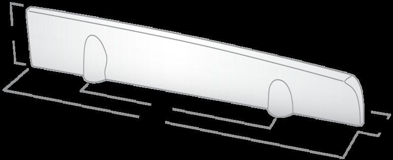 4165 Castella Minimal Flex Satin Chrome 96mm Left Hand Pull Handle