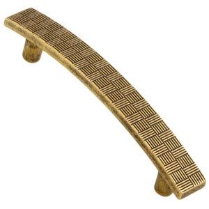 Castella Geometric Tessellate Antique Brass 96mm Handle 752 096 03