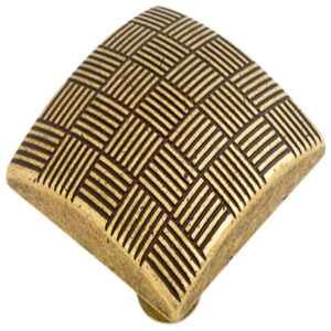 Castella Geometric Tessellate Antique Brass Square 34mm Knob 752 034 03