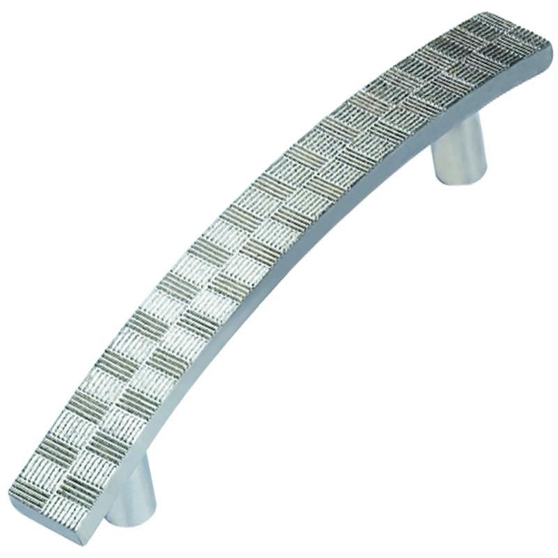 Castella Geometric Tessellate Brushed Tin 128mm Handle 752 128 85