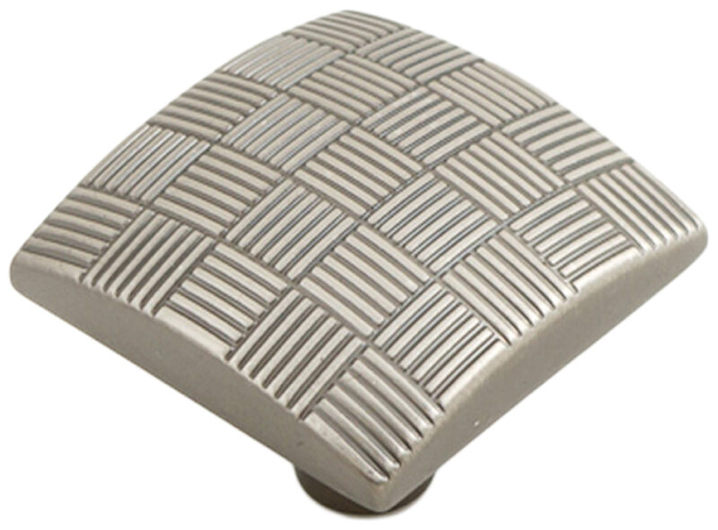 Castella Geometric Tessellate Brushed Tin Square 34mm Knob 752 034 85 2