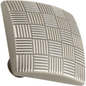 Castella Geometric Tessellate Brushed Tin Square 34mm Knob 752 034 85