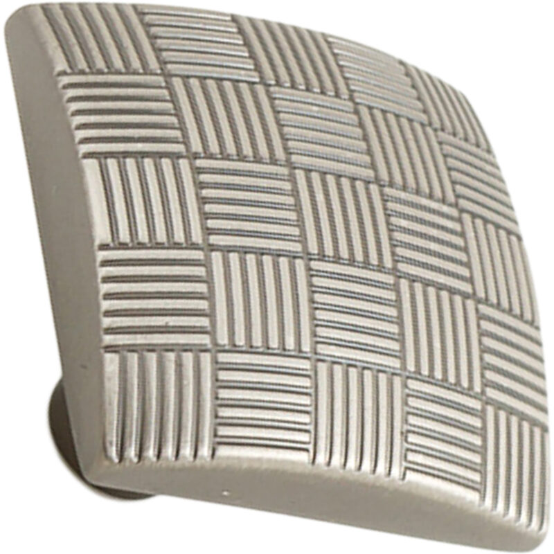 Castella Geometric Tessellate Brushed Tin Square 34mm Knob 752 034 85