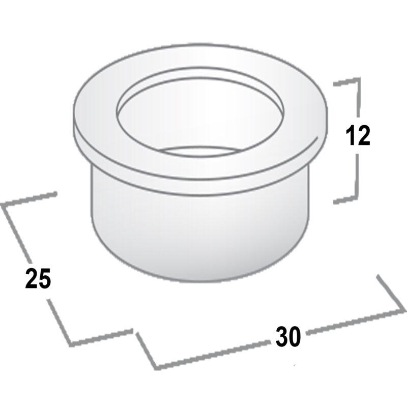 Castella Minimal Flush Polished Chrome 30mm Round Pull Flush Handle 764 030 06 Diagram