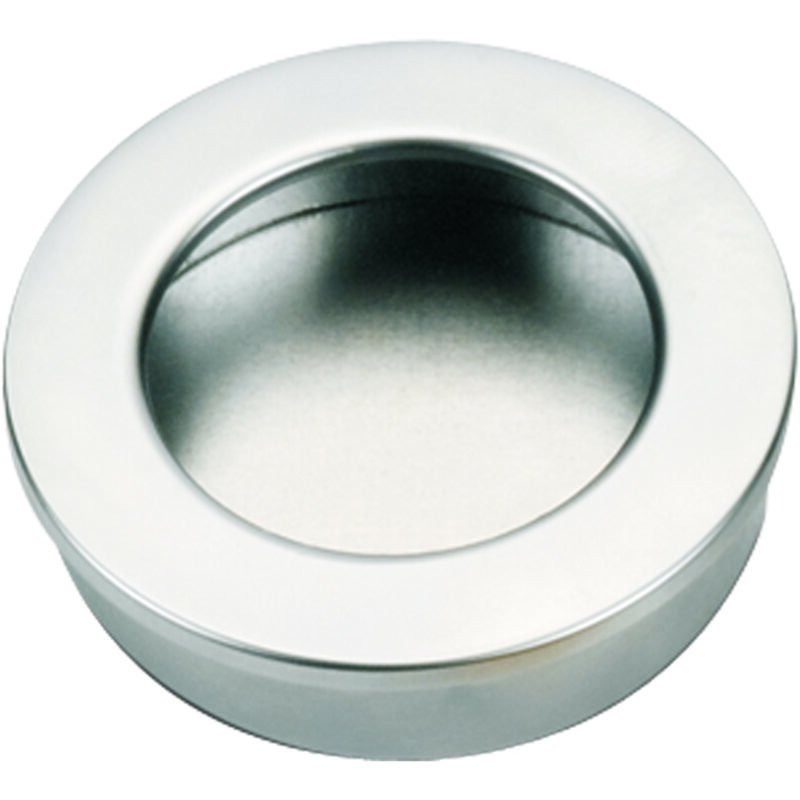 Castella Minimal Flush Satin Chrome 30mm Round Pull Flush Handle 764 030 15 2